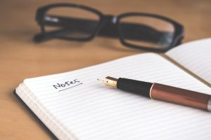 Left blank spaces in your notes