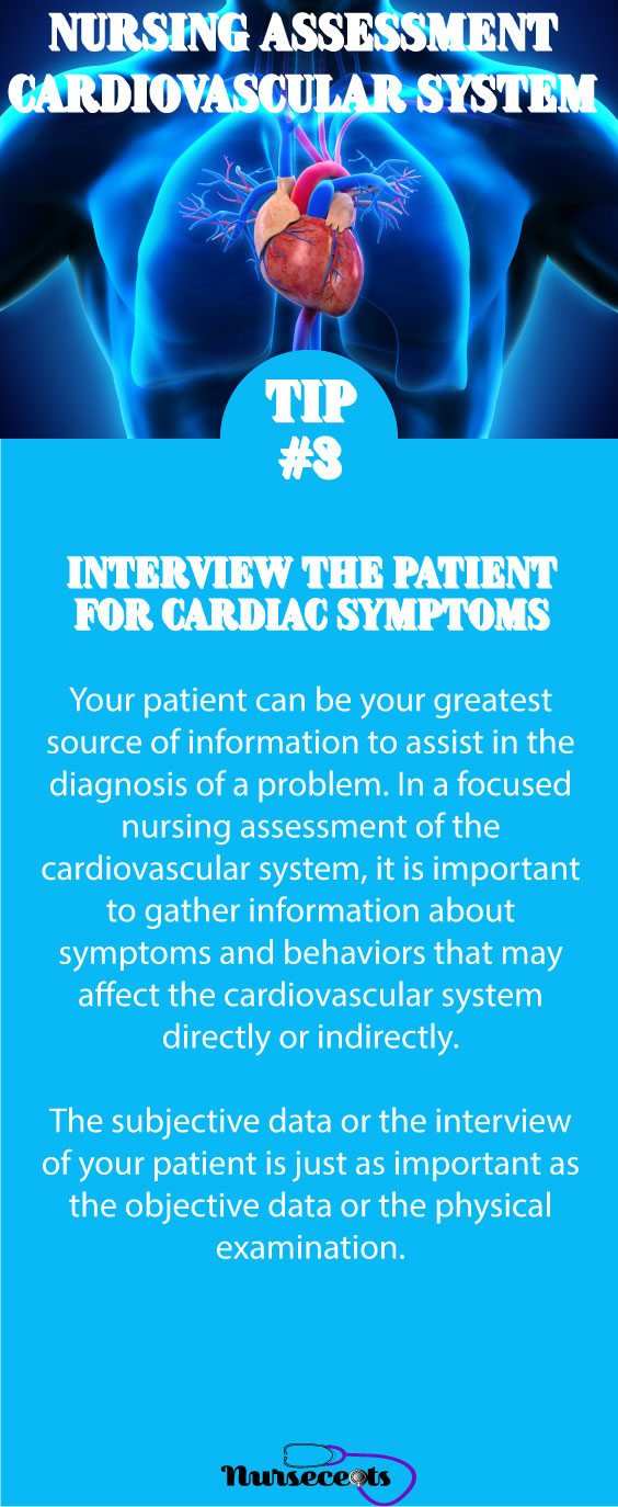 Tip #3 Nursing Assessment of the Cardiovascular System