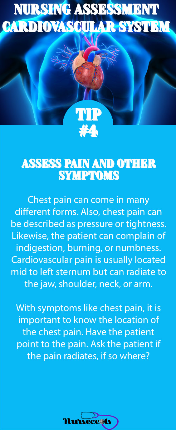 Tip #4 Nursing Assessment of the Cardiovascular System