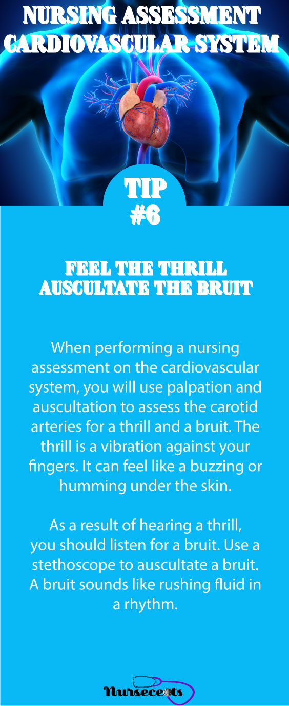 Tip #6 Nursing Assessment of the Cardiovascular System