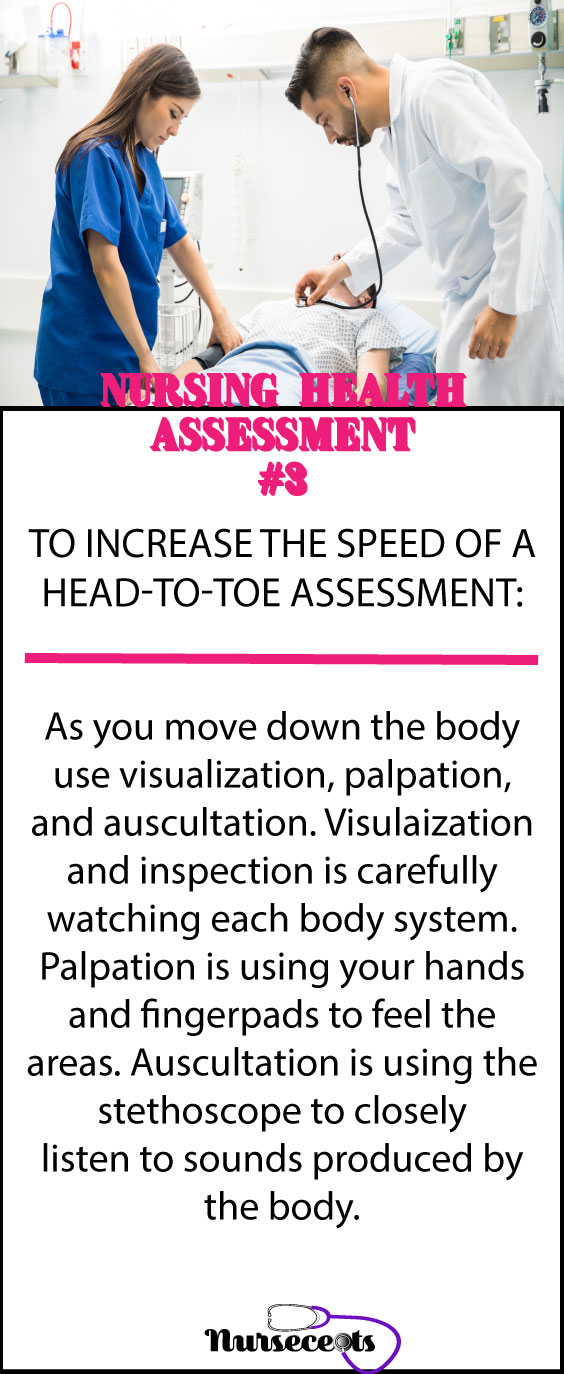 Increasing the speed of a head-to-toe assessment #3