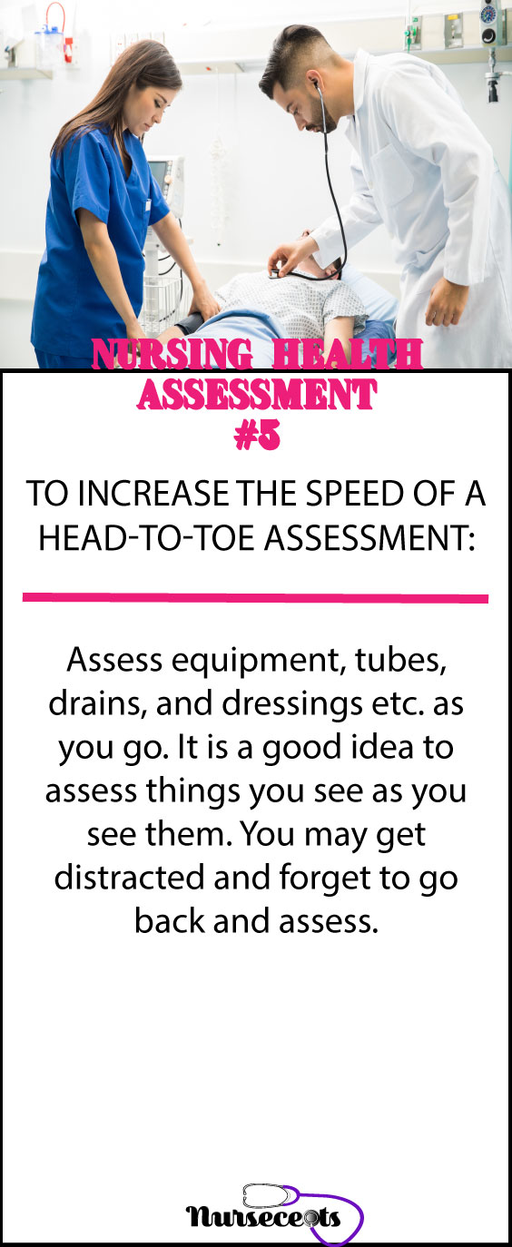 Increasing the speed of a head-to-toe assessment #5